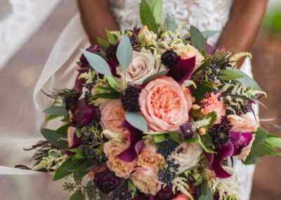 SouthWind Events Chicago Wedding Planner bridal pink and burgundy photo by J Lauryn Photographer