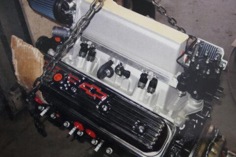Chevy Engine in Garage
