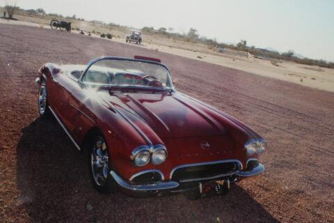 Red Corvette on Road