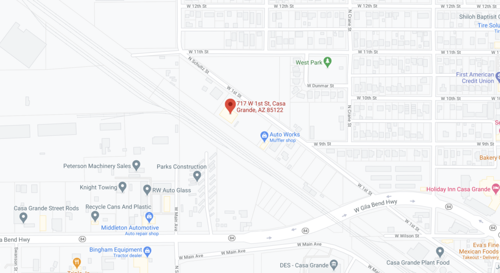 Map of B&G Auto with just street address