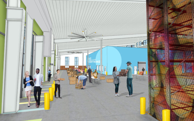 Rendering of the new Greater Pittsburgh Community Food Bank building