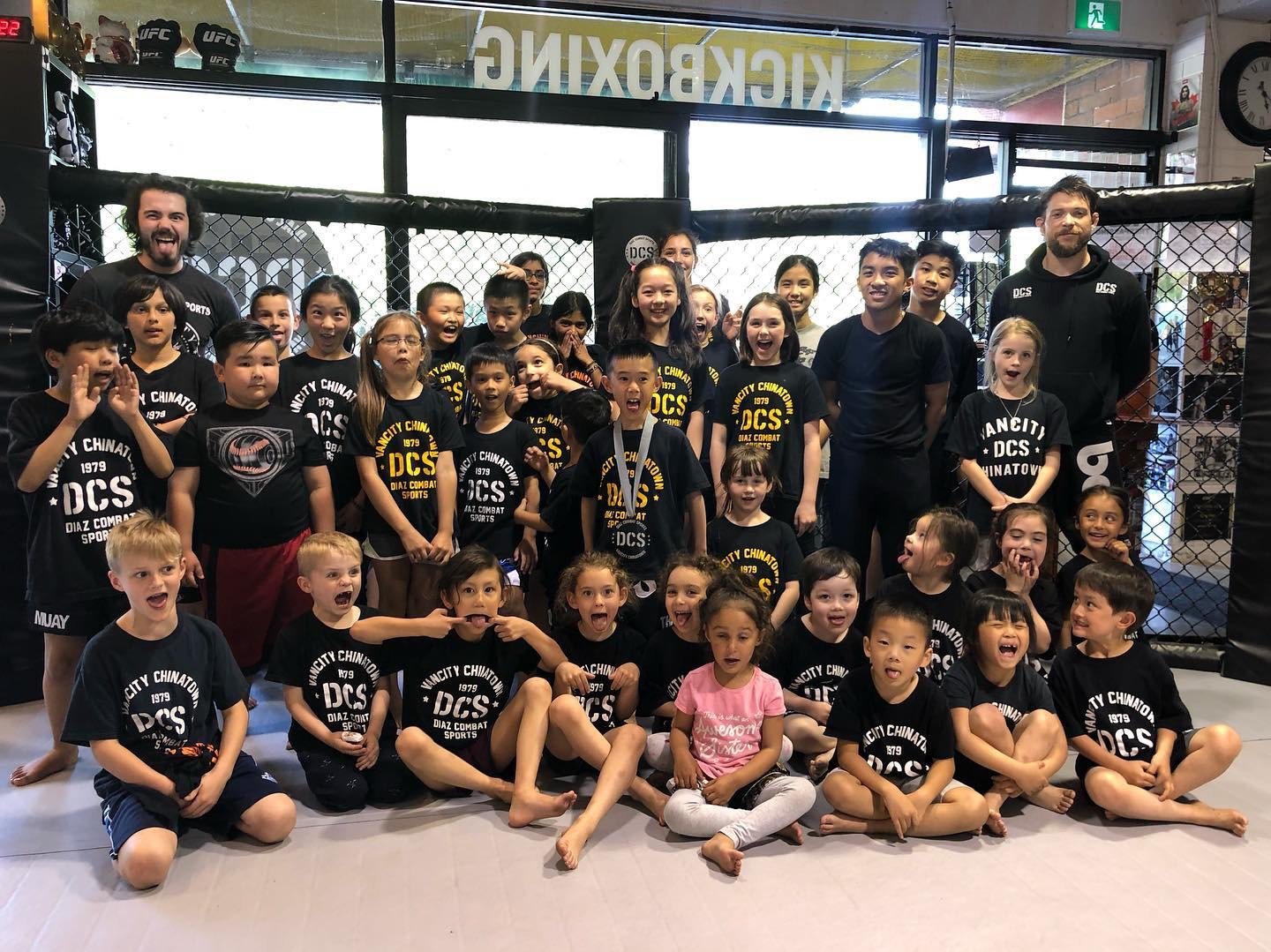 Groups shot after children's martial arts class in Vancouver