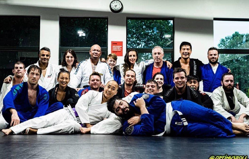 Group photo after jiu-jitsu class in Vancouver