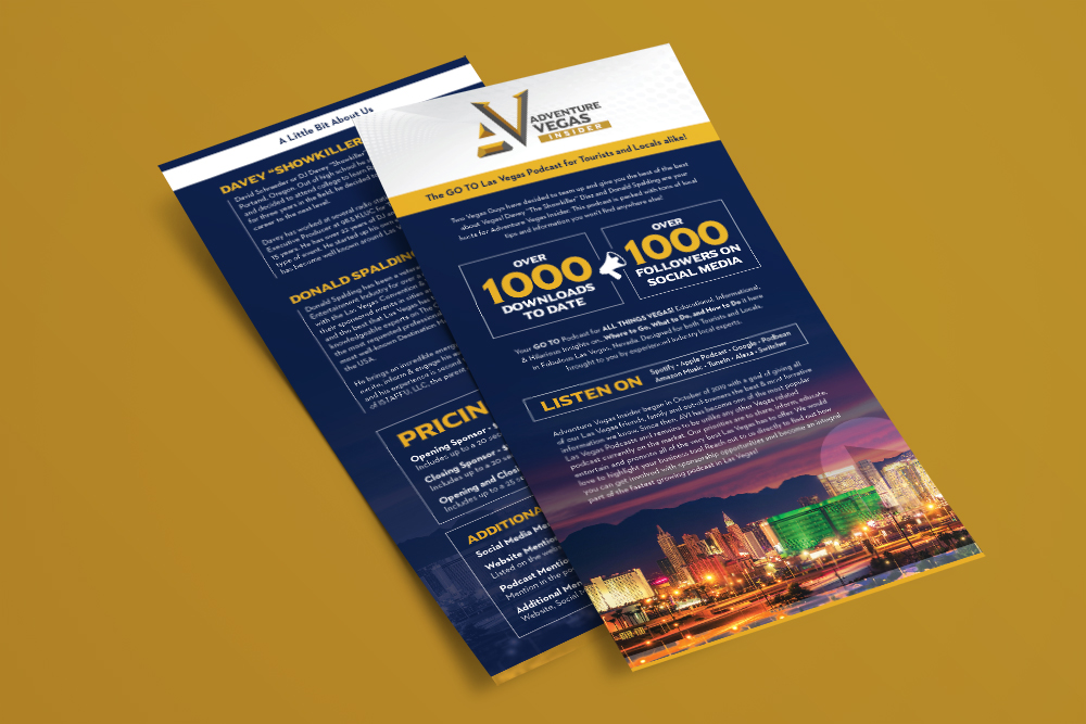 Adventure Vegas Insider Sales Sheet - Portfolio