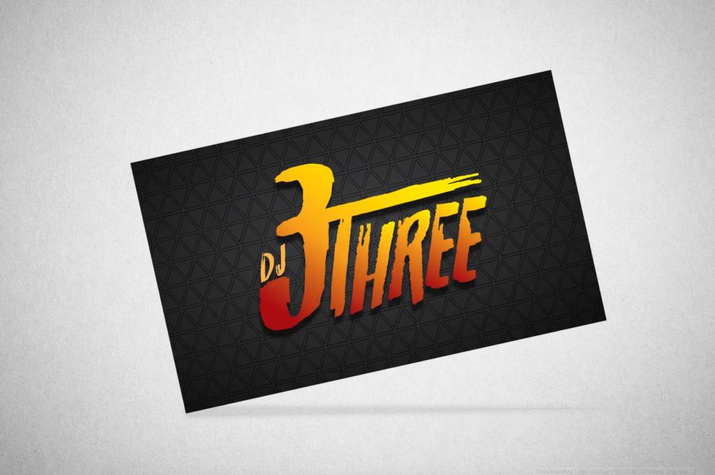 DJ 3Three Logo Design