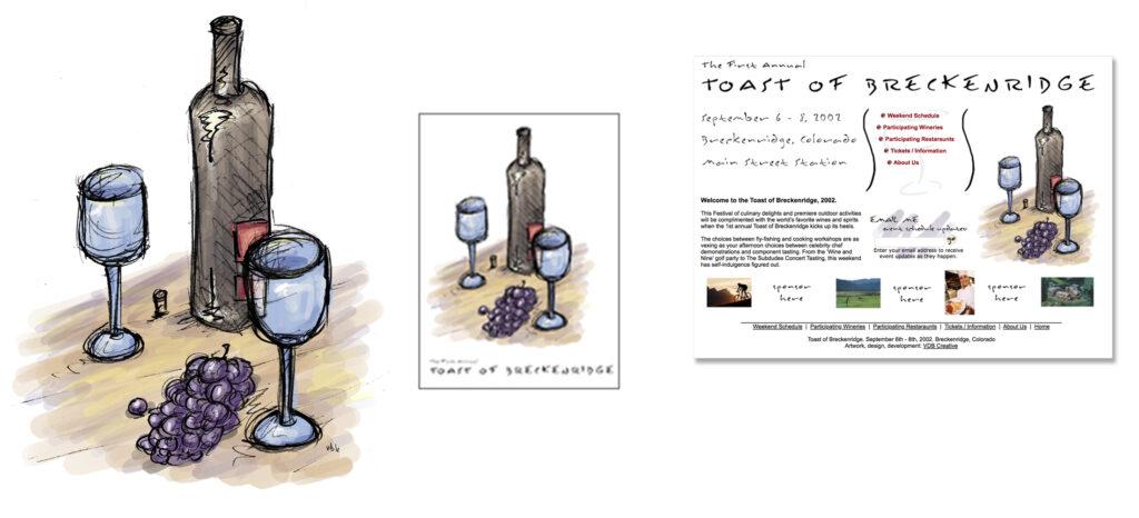 2002 Toast of Breckenridge Marketing Materials