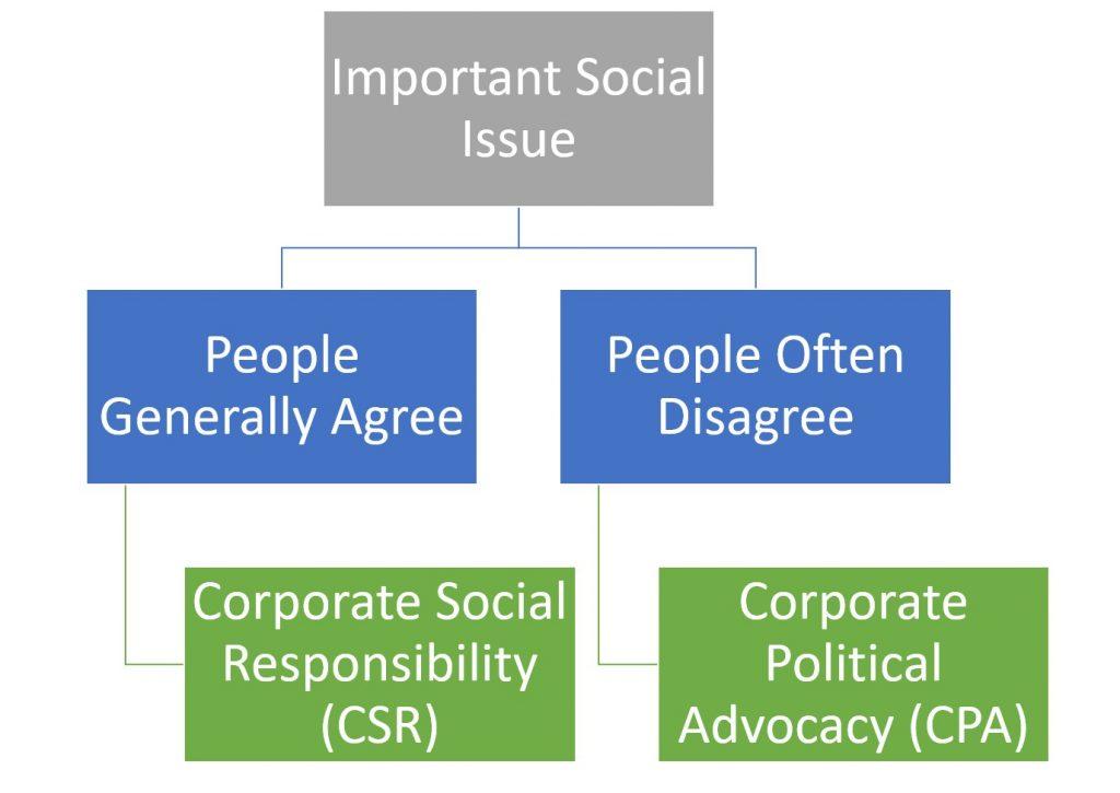 Corporate Social Responsibility (CSR) Versus Corporate Political Advocacy (CPA)