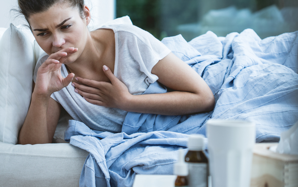 woman with cough