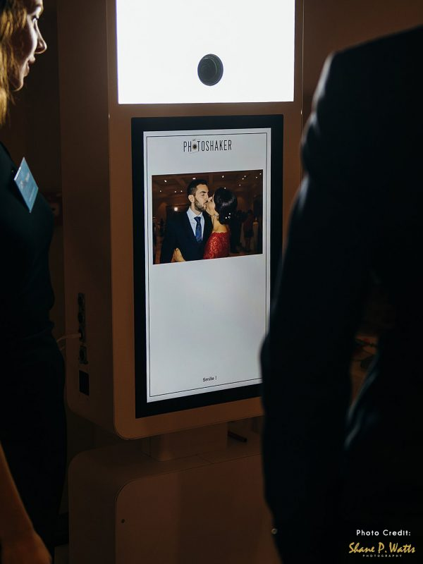 Front view of photobooth with live view