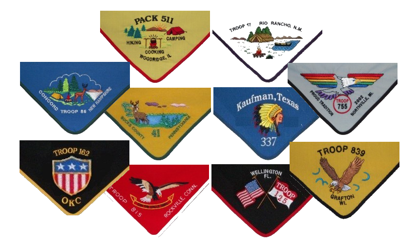 Stock design neckerchiefs