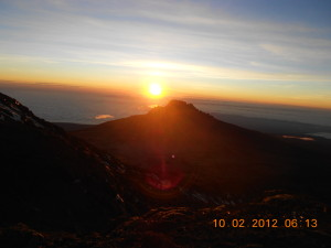 Sun Rising On Kilimanjaro 2012