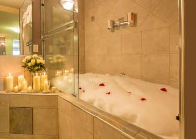 The Imperial Suite's Water-Jet Tub is Ready to Welcome a Couple at A Vista Villa Couples Retreat in Kelowna, BC