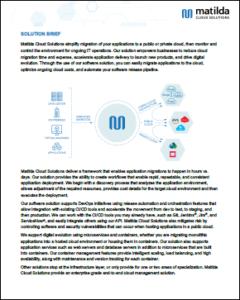 Brief of Matilda Cloud Solutions