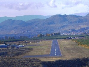 Approach to Anderson Field Airport, Brewster,WA