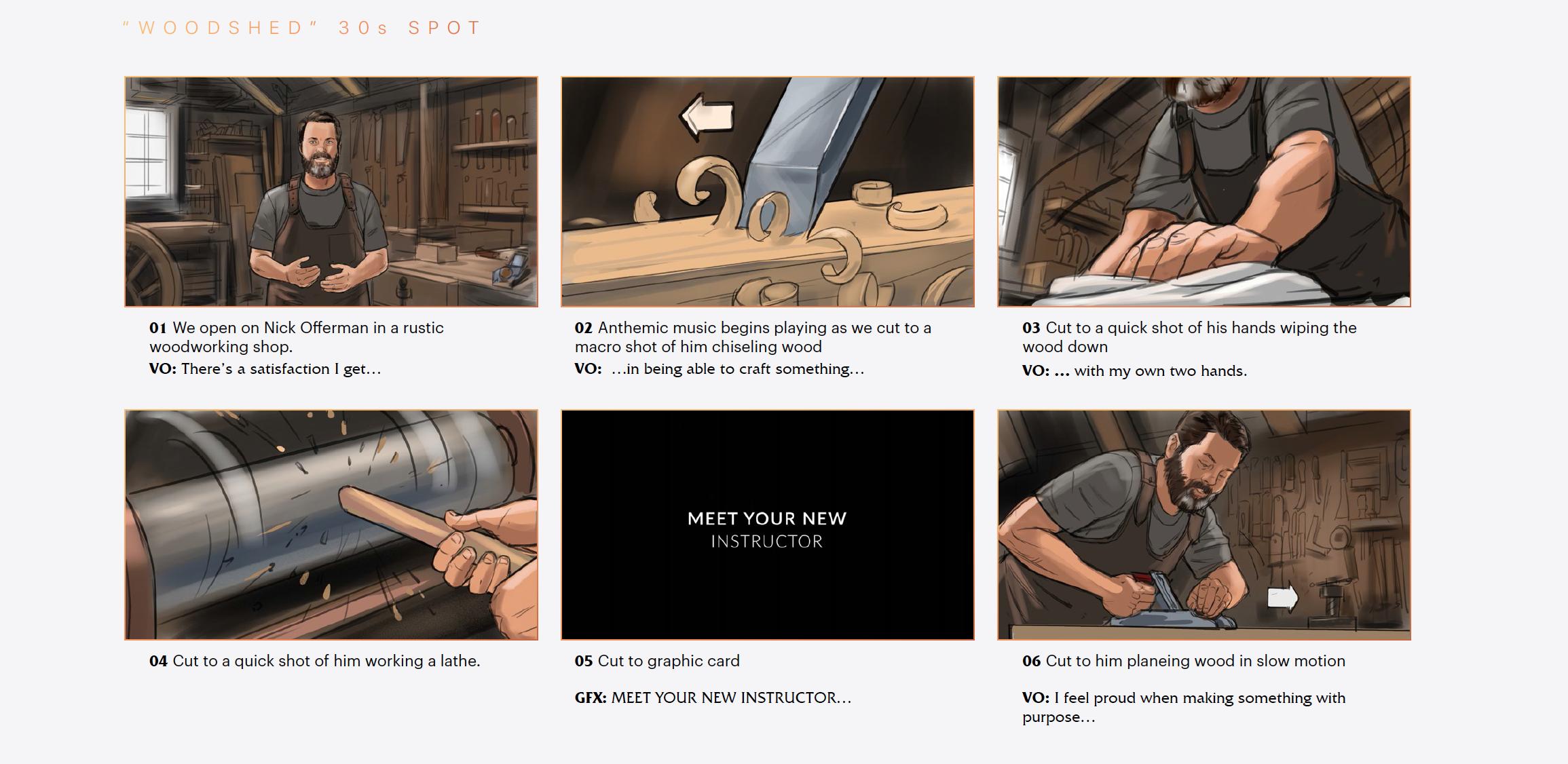 WoW Masterclass Storyboards