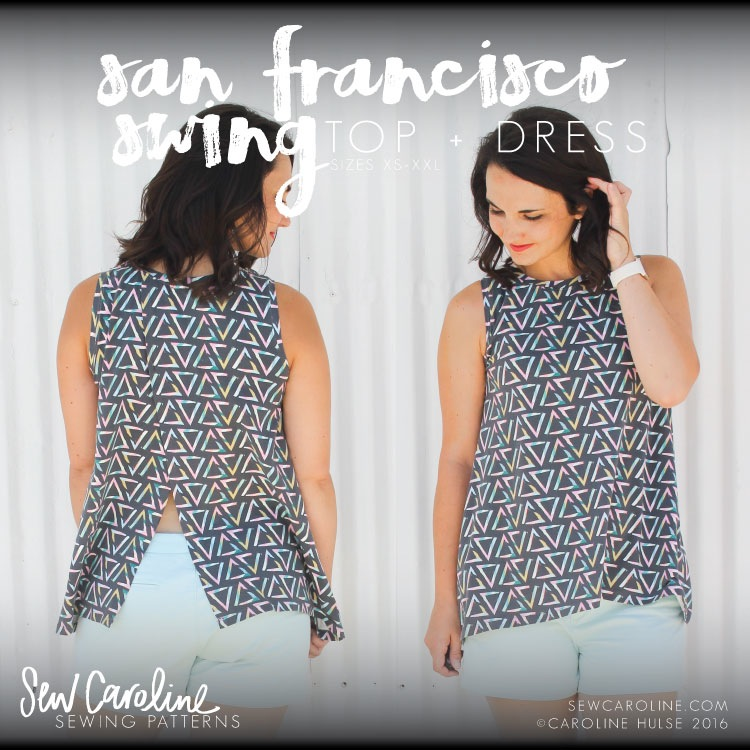 Sew Caroline San Francisco Swing Top Pattern