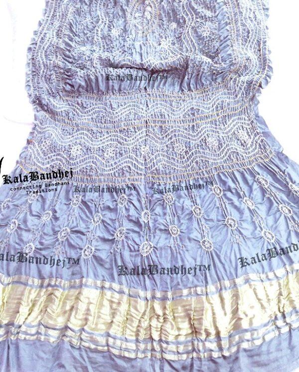 Blue Note GajiSilk Pastel Bandhani Dupatta