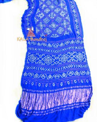 Blue GajiSilk BavanBaug Bandhani Saree