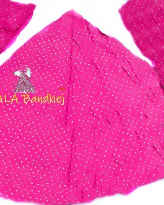 Dark Pink GajiSilk Bandhani Chaniya Choli
