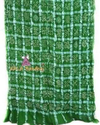 Forest Green Bandhani Gharchola Saree