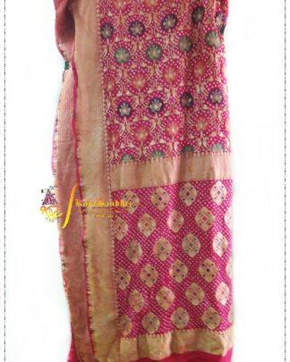 Pink Pure Minakari Saree