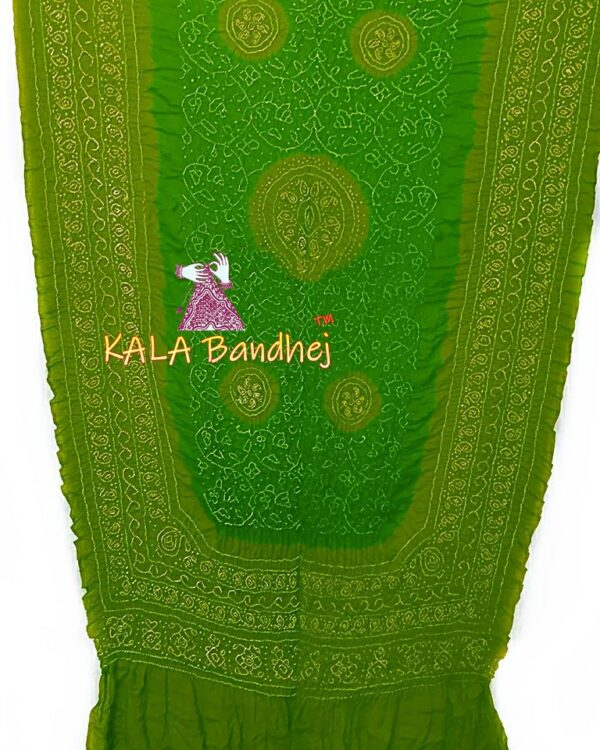 Olive - Green GajiSilk Shikari Bandhani Dupatta