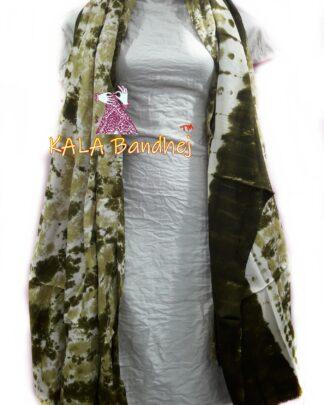 Olive Yello - White Pure SatinSilk Dress Material
