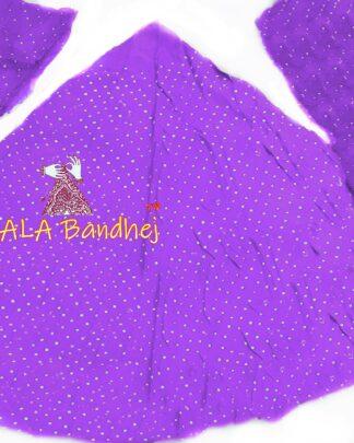 Orchid Purple GajiSilk Bandhani Chaniya Choli