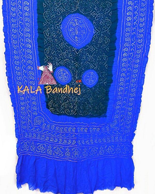 Royal Blue - B Wine GajiSilk Shikari Bandhani Dupatta
