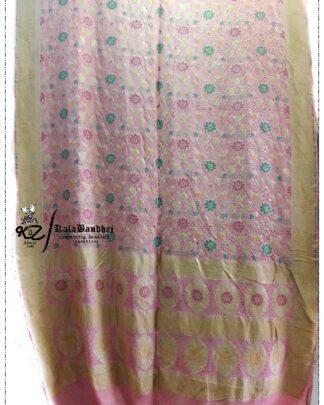 Baby_Pink Pure Minakari Saree