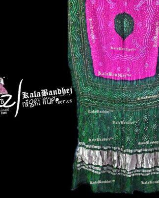 LightGreen -Gulabi Gaji Silk Bandhani Dupatta