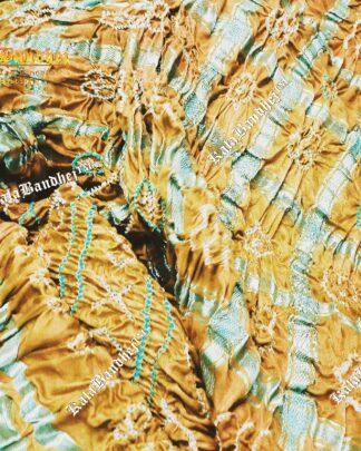 mustard gajisilk gharchola bandhani saree
