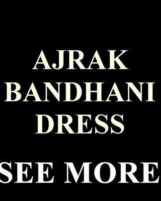 AJRAK BANDHANI DRESS