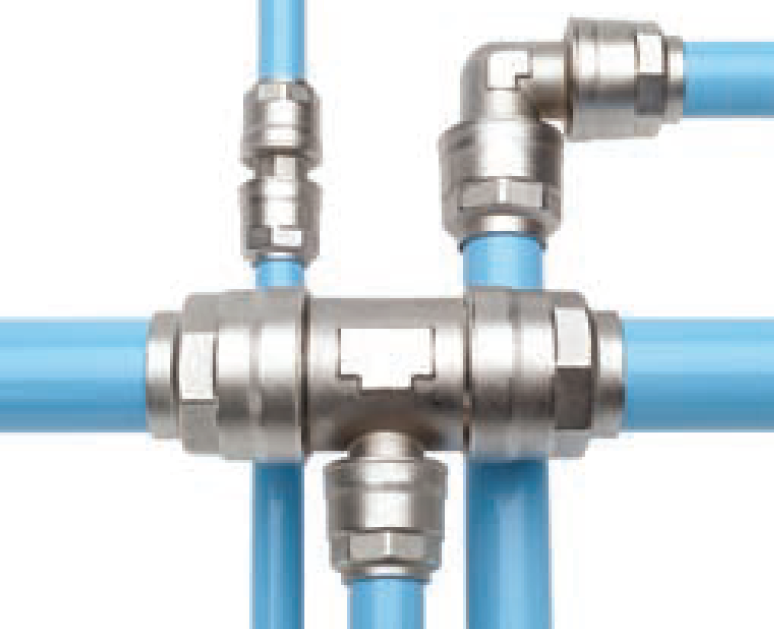 Infinity Piping is lightweight, exceptionally durable, and easy to install thanks for push-fit assembly.