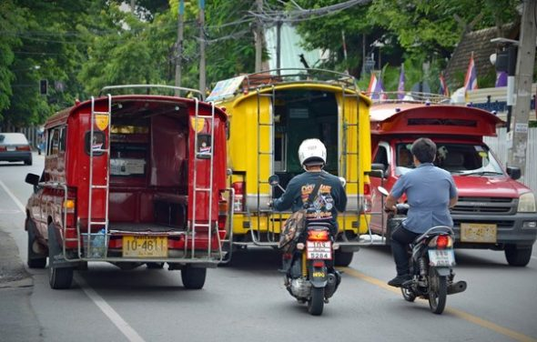 Songthaews in Chiang Mai