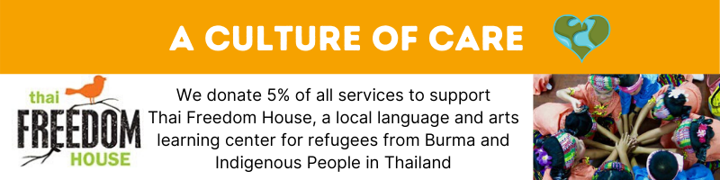 A Culture of Care graphic Retire in Chiang Mai supporting TFH