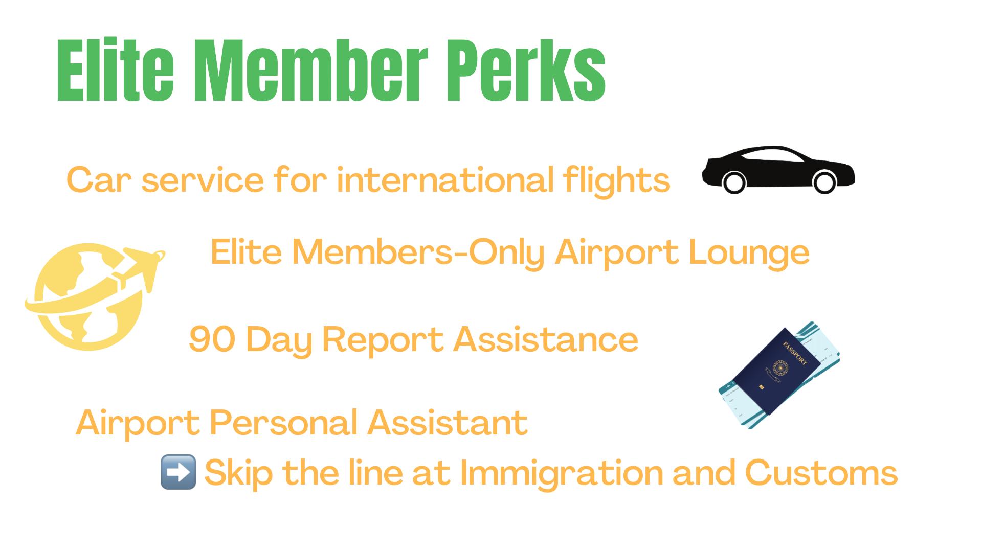 Thailand Elite visa perks and benefits
