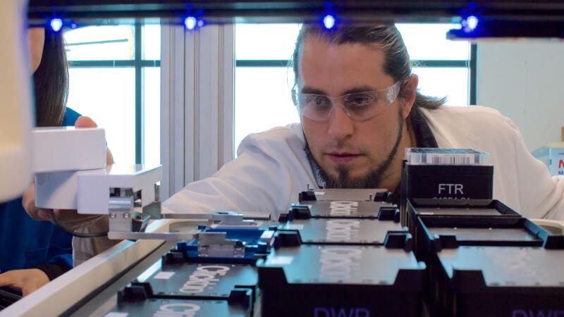 Demetrix Team Member in Lab