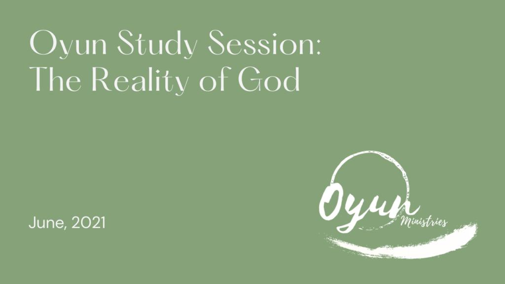 Reality of God  video image