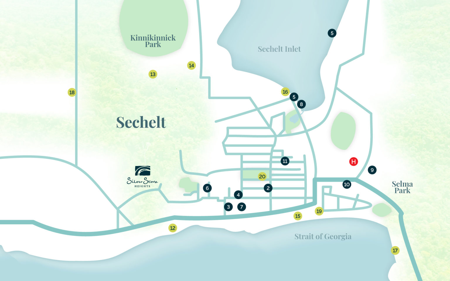 Map of Sechelt
