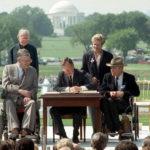 Photo: President Bush signing the ADA