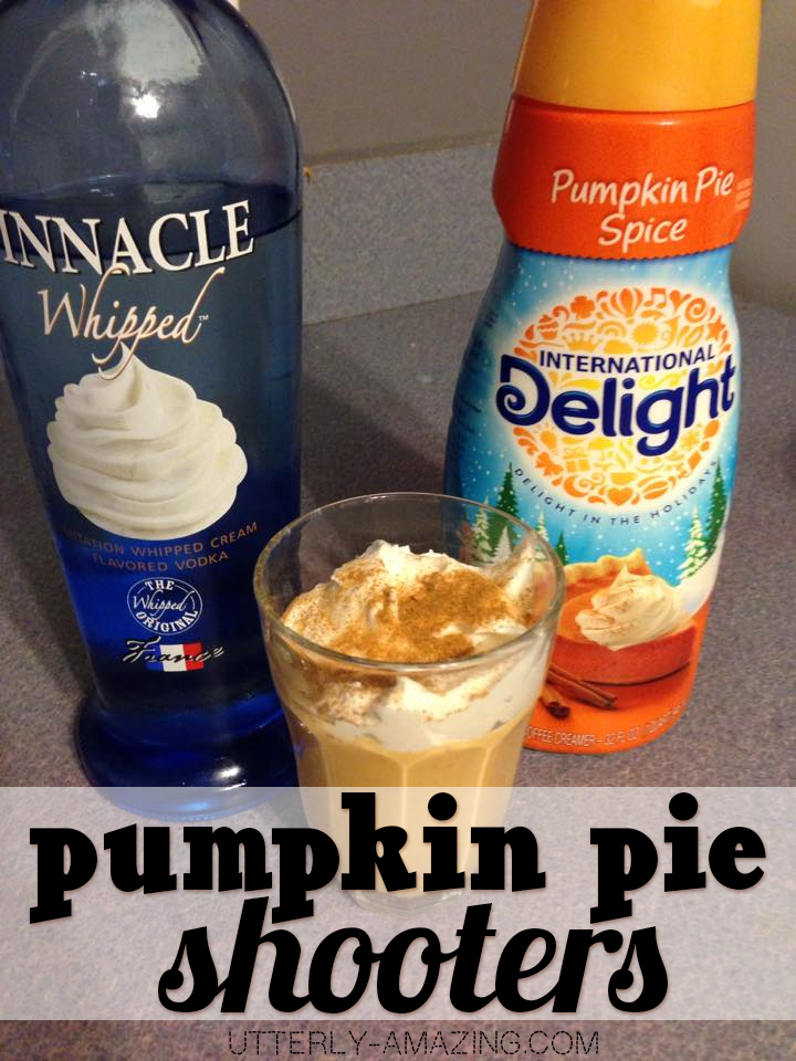 Whipped Pumpkin Pie Spice Shooter with Delight