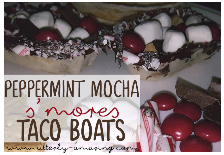 Peppermint Mocha S'mores Tacos | #OEPGameDay Sweet Treats