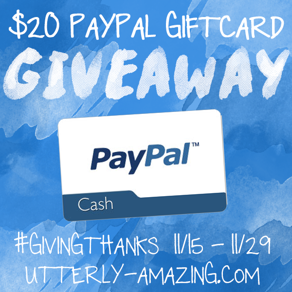 $20 PayPal GiftCard Giveaway | Giving Thanks Hop
