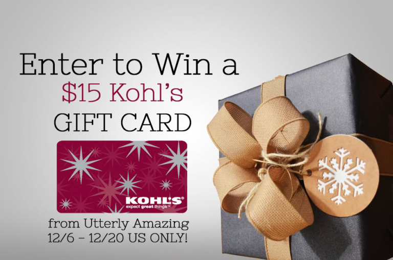 December to Remember Giveaway Hop | $15 Kohl's Gift Card Giveaway