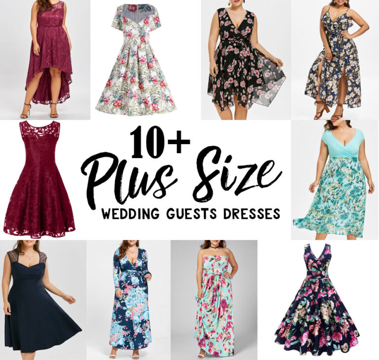 10+ Simply Beautiful Plus Size Wedding Guest Dresses