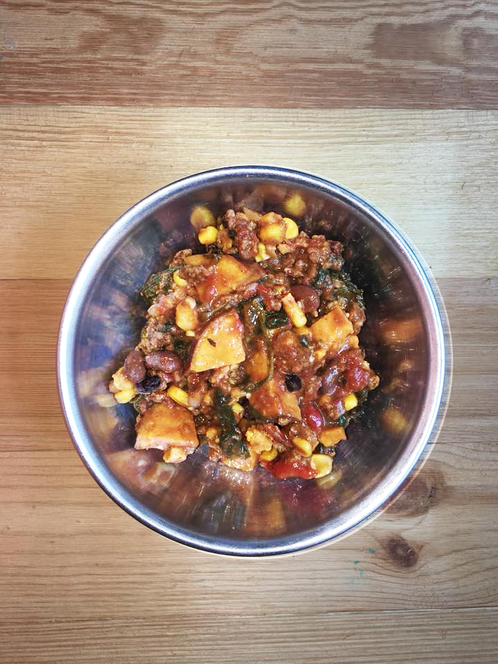Not Your Mama's Black Bean Sweet Potato Chili + Occasional Heartburn Relief