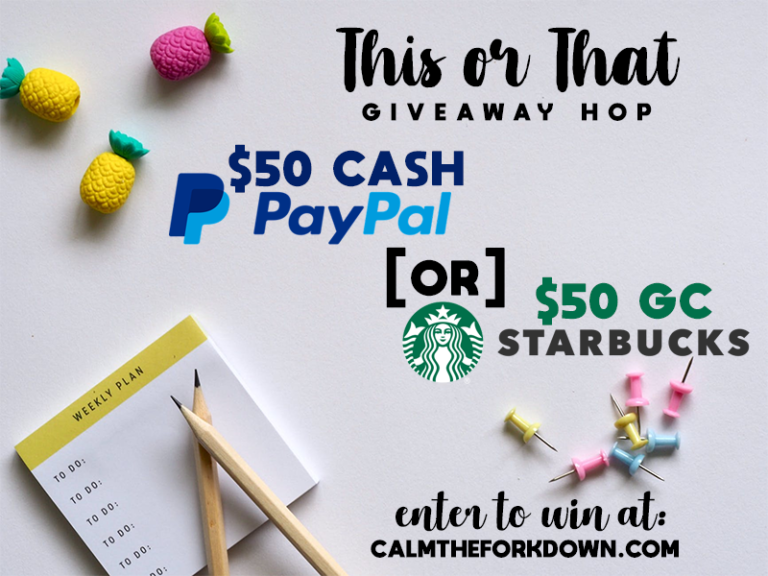 $50 PayPal Cash or $50 Starbucks Giftcard Giveaway