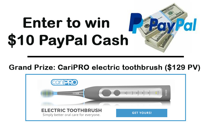 CariPRO Electric Toothbrush + $10 PayPal Cash Giveaway