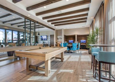 The Crossings of Chino Hills common area with pool table